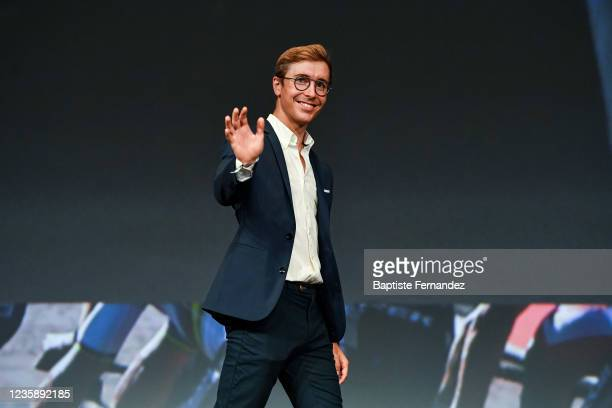 Benoit COSNEFROY during the presentation of the Tour de France 2022 at Palais des Congres on October 14, 2021 in Paris, France.