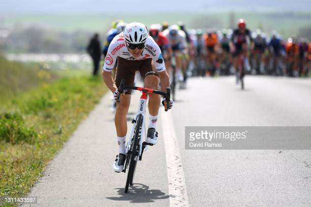 Benoit Cosnefroy of France and Ag2R Citroen Team during the 60th Itzulia-Vuelta Ciclista Pais Vasco 2021, Stage 4 a 189,2km stage from...
