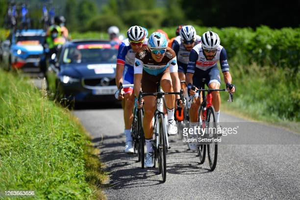 Benoit Cosnefroy of France and Team Ag2R La Mondiale / Julien Bernard of France and Team Trek - Segafredo / Julien Trarieux of France and Team Nippo...