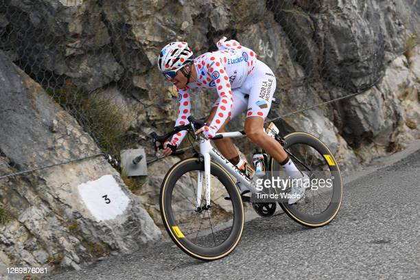 Benoit Cosnefroy of France and Team Ag2R La Mondiale Polka Dot Mountain Jersey / during the 107th Tour de France 2020, Stage 3 a 198km stage from...