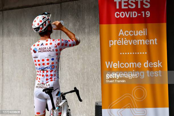 Benoit Cosnefroy of France and Team Ag2R La Mondiale Polka Dot Mountain Jersey / during the 107th Tour de France 2020, Covid-19 Testing, Team Ag2R La...