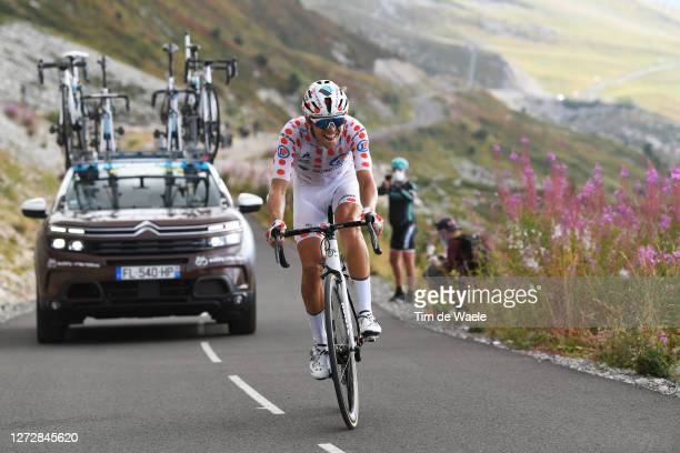 Benoit Cosnefroy of France and Team Ag2R La Mondiale Polka Dot Mountain Jersey / during the 107th Tour de France 2020, Stage 17 a 170km stage from...