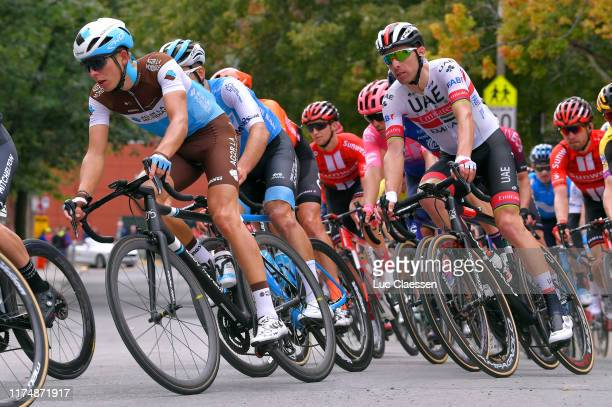 Benoit Cosnefroy of France and Team AG2R La Mondiale / Rui Costa of Portugal and UAE Team Emirates / during the 10th Grand Prix Cycliste de Montreal...