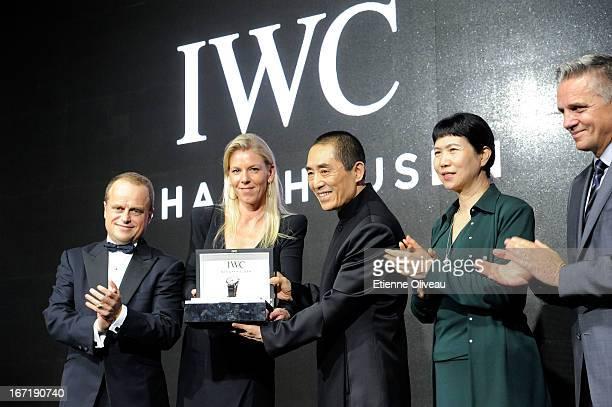 Benoit De Clerck, IWC Managing Director Asia Pacific, Karoline Huber, IWC Director of Marketing & Communications, Chinese film director Zhang Yimou,...