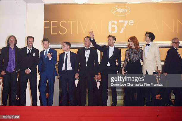 Benoit Debie Adam Siegel Matt Smith Iain De CaesteckerReda Kateb Ryan Gosling Geoffrey Arend and Thierry Fremaux attend the 'Lost River' Premiere...