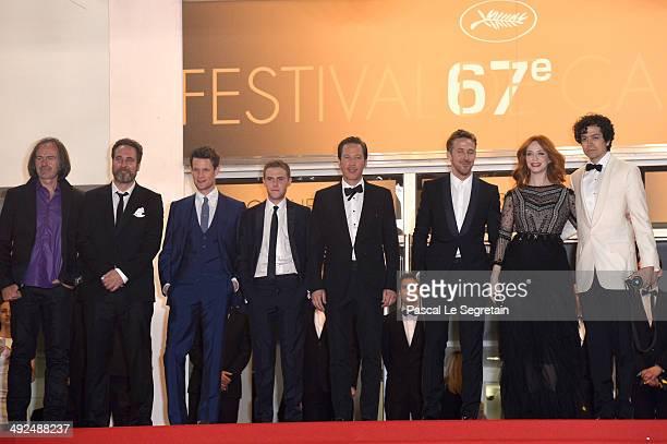 Benoit Debie and Adam Siegel Actors Matt Smith Iain De Caestecker Reda Kateb Ryan Gosling Christina Hendricks Geoffrey Arend attend the 'Lost River'...