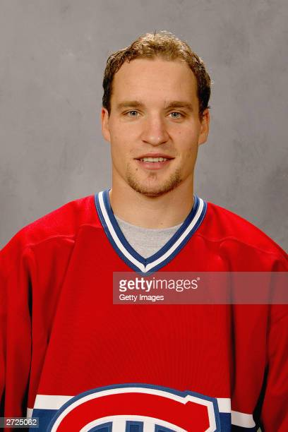 Benoit Gratton of the Montreal Canadiens poses for a portrait on September 15 2003 at the Bell Centre in Montreal Quebec Canada