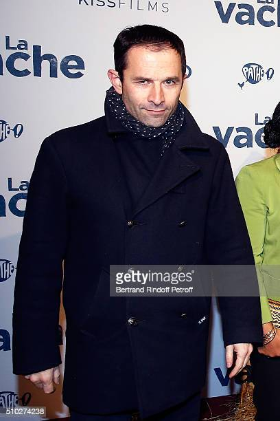 Benoit Hamon attends the 'La Vache' Premiere at Pathe Wepler on February 14 2016 in Paris France