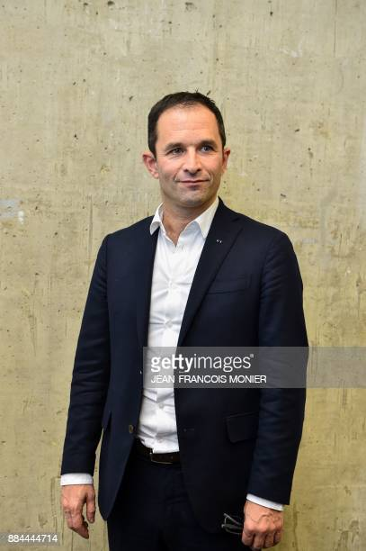 Benoit Hamon leader of the leftwing political movement Generations poses during the Generations founding congress in Le Mans western France on...