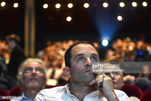 Benoit Hamon leader of the leftwing political movement Generations looks on during the voting of the movement's charter as part of the Generations...