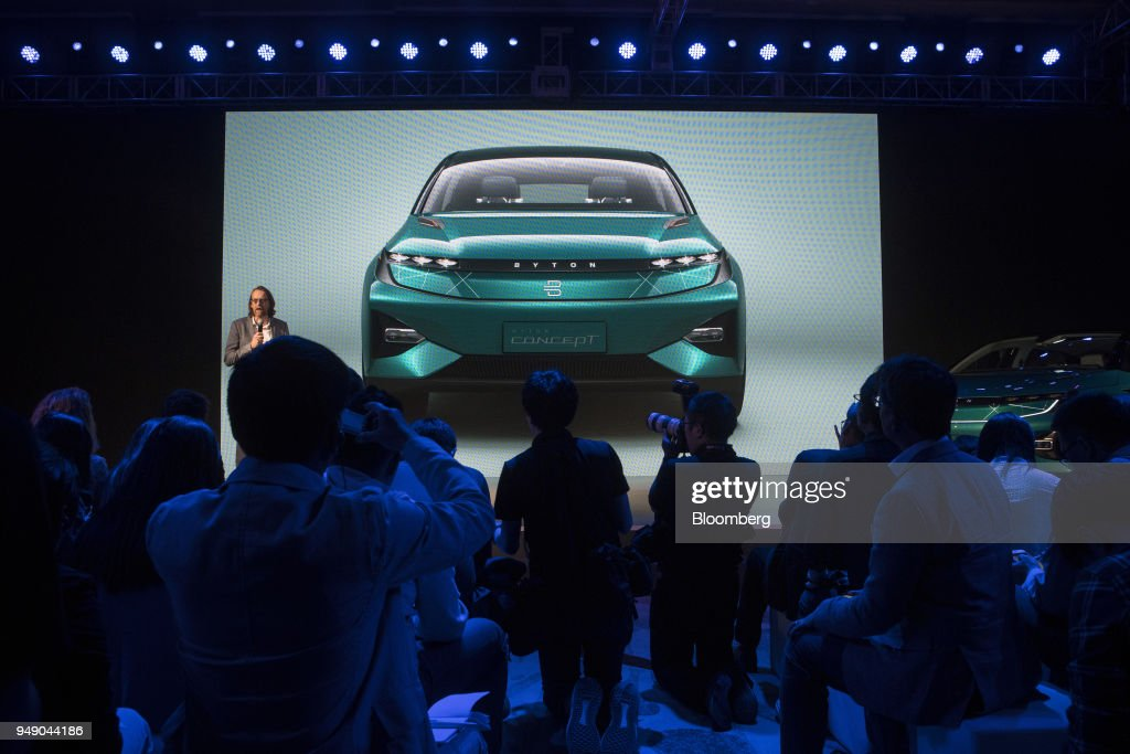 Chinese Electric-Car Startup Byton Presents the Byton Concept SUV