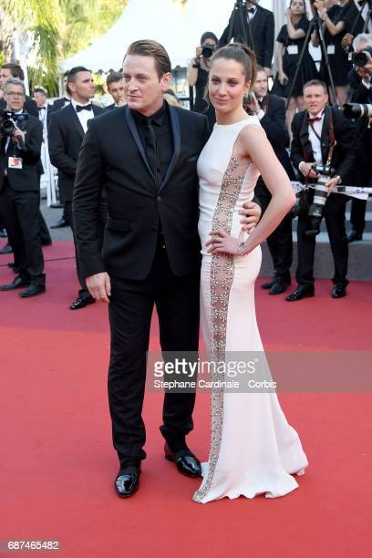 Benoit Magimel and guest attend the 70th Anniversary of the 70th annual Cannes Film Festival at Palais des Festivals on May 23 2017 in Cannes France