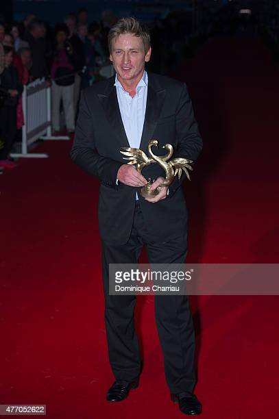 Benoit Magimel awarded best actor during the closing ceremony of the 29th Cabourg Film Festival on June 13 2015 in Cabourg France