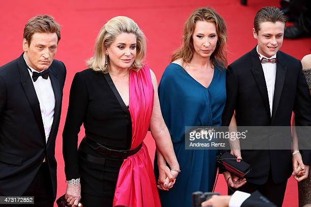 Benoit Magimel Catherine Deneuve Emmanuelle Bercot and Rod Paradot attend the opening ceremony and premiere of La Tete Haute during the 68th annual...