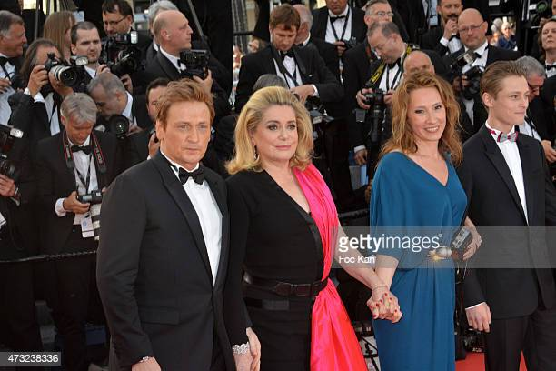 Benoit Magimel Catherine Deneuve Emmanuelle Bercot and Rod Paradot attend the opening ceremony and premiere of 'La Tete Haute during the 68th annual...