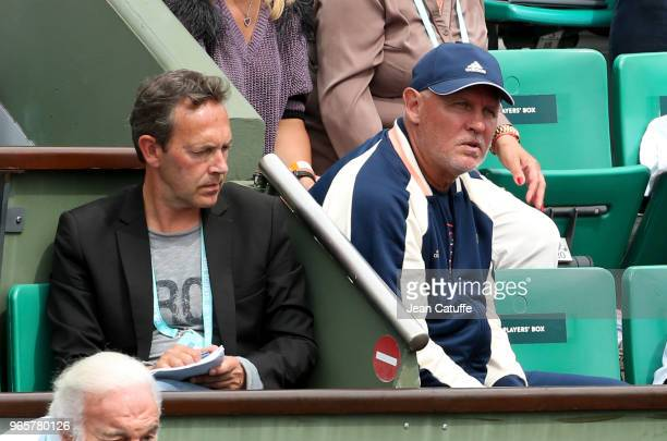 Benoit Maylin Alexander Zverev Sr father and coach of Alexander Zverev of Germany during Day Six of the 2018 French Open at Roland Garros on June 1...