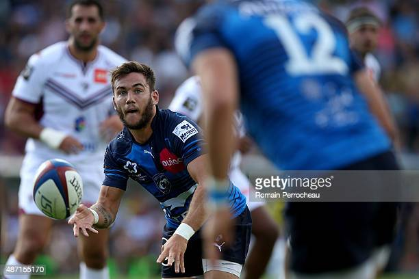 Benoit Paillaugue of Montpellier during the French Rugby League Top 14 between Union Bordeaux Begles and Montpellier on September 6 2015 in Bordeaux...