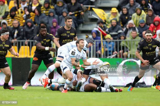 Benoit Paillaugue of Montpellier during the French Top 14 match between La Rochelle and Montpellier on April 30 2017 in La Rochelle France