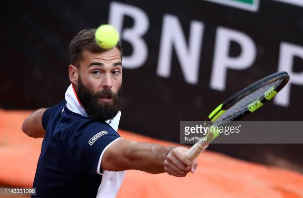 Benoit Paire during the ATP Internazionali d'Italia BNL first round match at Foro Italico in Rome Italy on May 12 2019