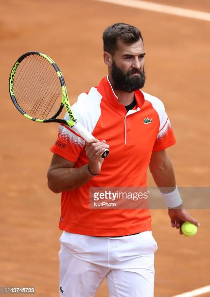 Benoit Paire during the ATP Internazionali d'Italia BNL first round match at Foro Italico in Rome Italy on May 14 2019