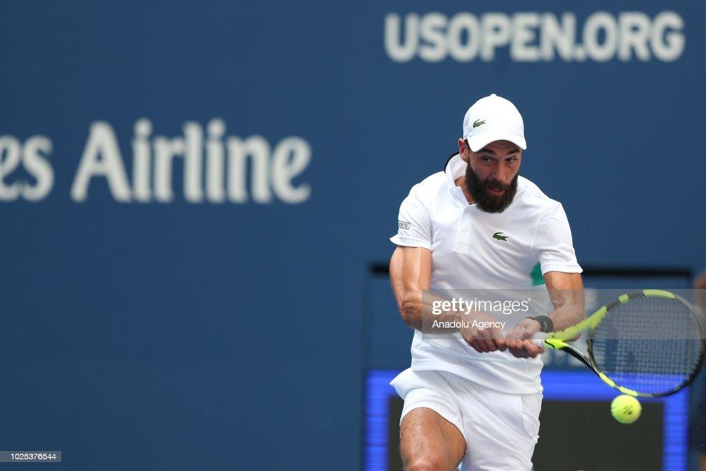 US Open 2018: Roger Federer v Benoit Paire : News Photo