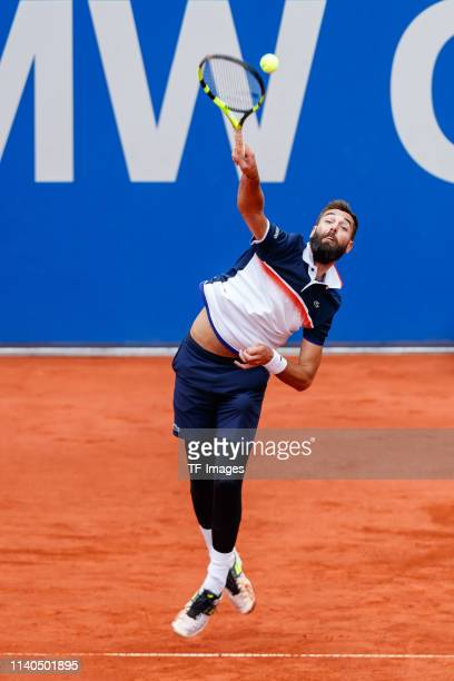 Benoit Paire of France controls the ball during the BMW Open by FWU at MTTC IPHITOS on April 30 2019 in Munich Germany