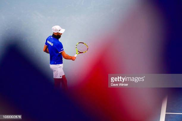 Benoit Paire of France during Day 1 of the Davis Cup semi final on September 14 2018 in Lille France