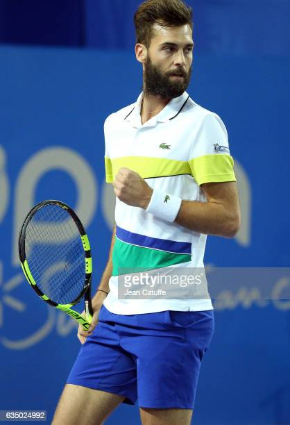 Benoit Paire of France in action during day 6 of the Open Sud de France an ATP Tour 250 tournament at Arena Montpellier on February 11 2017 in...