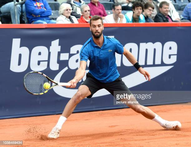 Benoit Paire of France in action during his first round match against Philipp Kohlschreiber of Germany at the ATP tennis tournament in Hamburg...