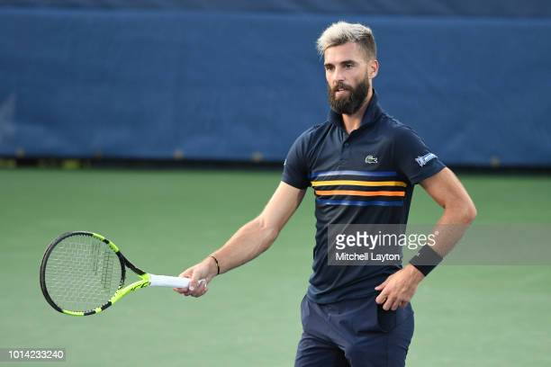 Benoit Paire of France looks on during match against Marcos Baghdatis of Cyprus during Day Four of the Citi Open at the Rock Creek Tennis Center on...