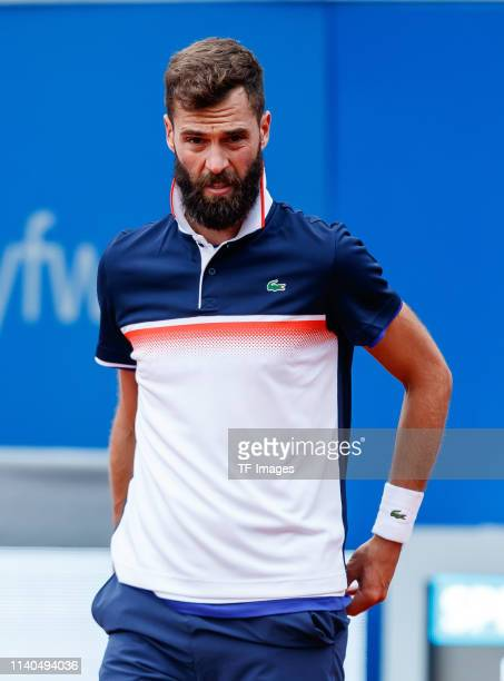 Benoit Paire of France looks on during the BMW Open by FWU at MTTC IPHITOS on April 30 2019 in Munich Germany