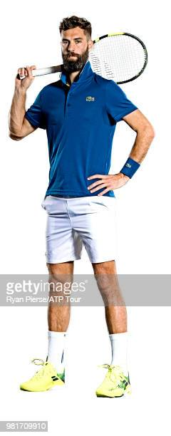 Benoit Paire of France poses for portraits during the Australian Open at Melbourne Park on January 14 2018 in Melbourne Australia