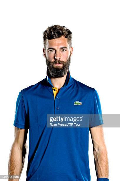 Benoit Paire of France poses for portraits during the Australian Open at Melbourne Park on January 12 2018 in Melbourne Australia