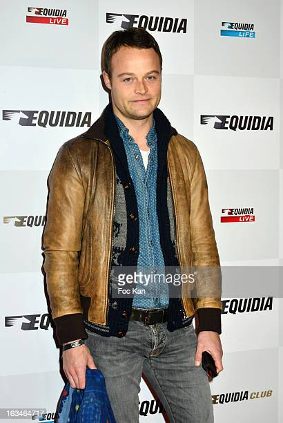 Benoit Petitjean attends the 'Equidia TV Jappeloup' Screening Cocktail at the Publicis Champs Elysees Cinema on March 5 2013 in Paris France