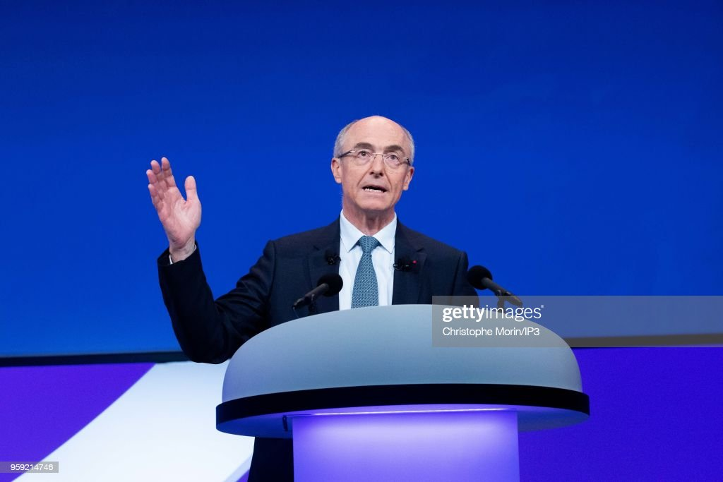 Benoit Potier, CEO of AirLiquide, attends the Groups Annual General Meeting in the presence of shareholders on May 16, 2018 in Paris, France. The French industrial group specialising in industrial gases reported this week an acceleration in its growth beyond analysts expectations.