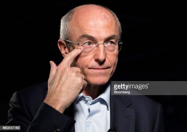 Benoit Potier chief executive officer of Air Liquide SA pauses during a Bloomberg Television interview at the BPI France forum in Paris France on...