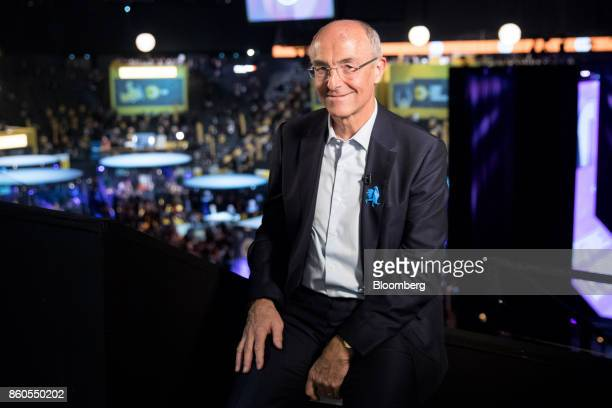 Benoit Potier chief executive officer of Air Liquide SA poses for a photograph following a Bloomberg Television interview at the BPI France forum in...