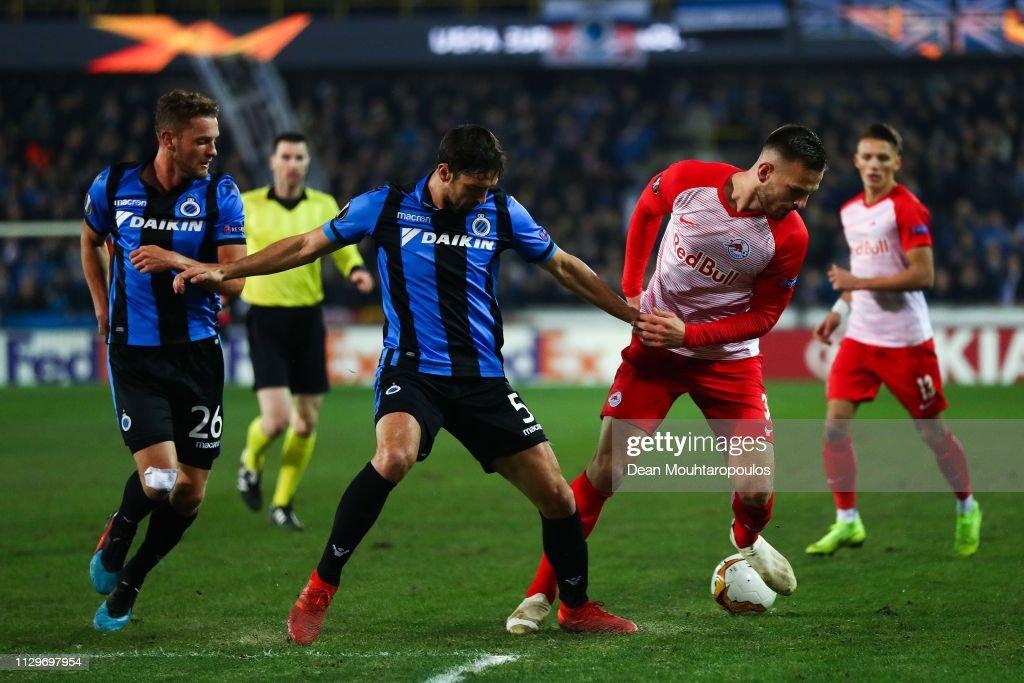 Club Brugge v RB Salzburg - UEFA Europa League Round of 32: First Leg : News Photo