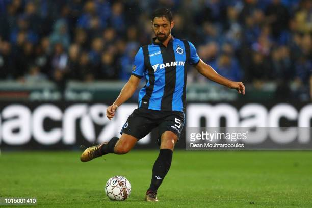 Benoit Poulain of Club Brugge KV in action during the Jupiler Pro League match between Club Brugge and KV Kortrijk at Jan Breydel Stadium on August...
