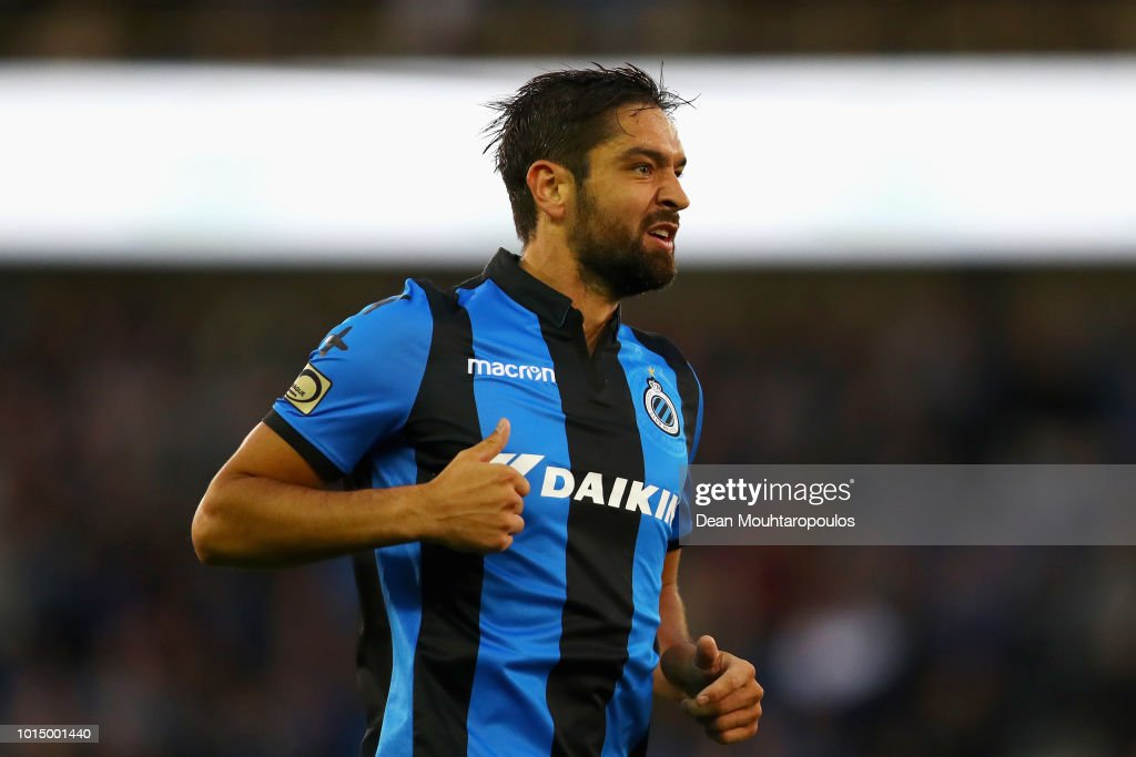 Benoit Poulain of Club Brugge KV in action during the Jupiler Pro League match between Club Brugge and KV Kortrijk at Jan Breydel Stadium on August 10, 2018 in Brugge, Belgium.