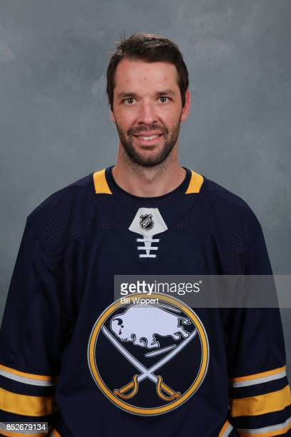 Benoit Pouliot of the Buffalo Sabres poses for his official headshot for the 20172018 season on September 14 2017 at the KeyBank Center in Buffalo...