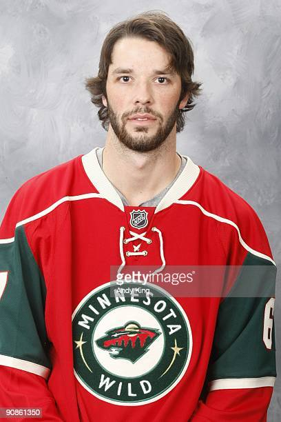 Benoit Pouliot of the Minnesota Wild poses for his official headshot for the 20092010 NHL season at the Xcel Energy Center on September 12 2009 in...