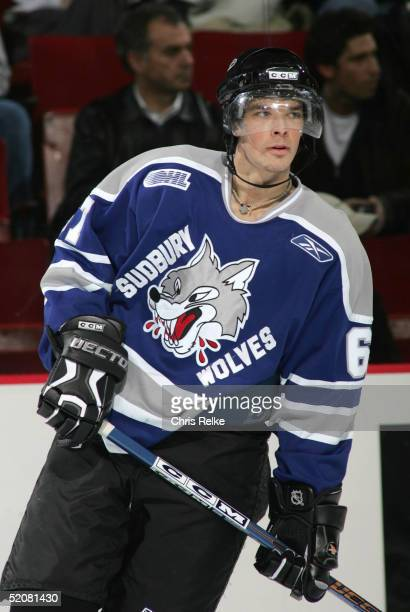 Benoit Pouliot of the Sudbury Wolves looks on during the annual Top Prospects Game & Skills competition at the Pacific Coliseum on January 18, 2005...