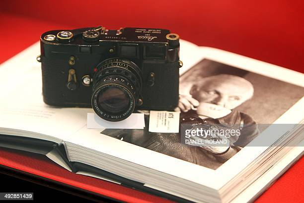 Benoit TOUSSAINT A Leica Model M3 once owned by French photographer Henri CartierBresson part of an auction taking place on May 23 is pictured on the...