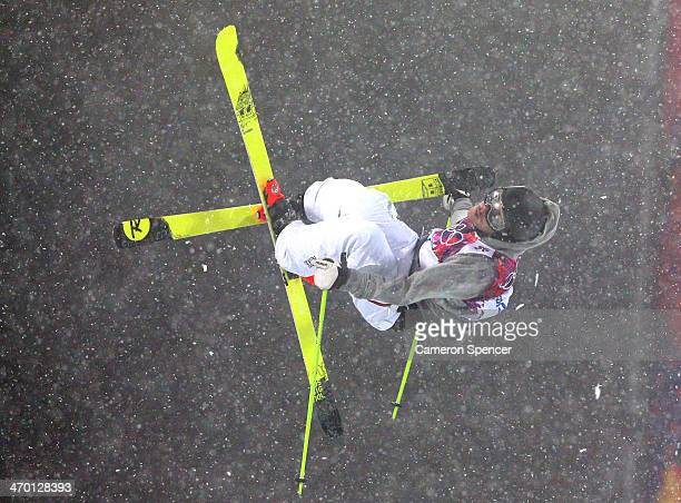 Benoit Valentin of France competes in the Freestyle Skiing Men's Ski Halfpipe Finals on day eleven of the 2014 2014 Winter Olympics at Rosa Khutor...