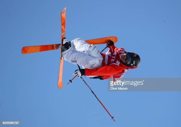 Benoit Valentin of France in action during the FIS Freestyle World Cup Ski Halfpipe Qualification at Bokwang Snow Park on February 16 2017 in...