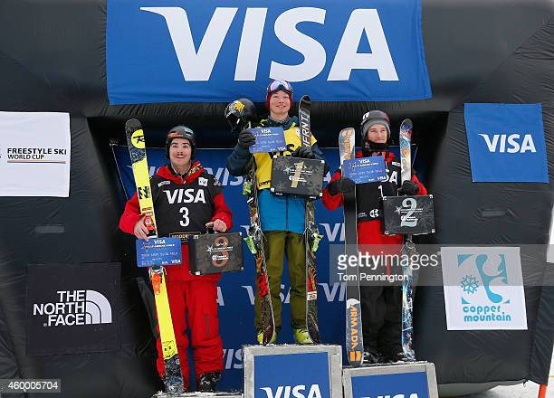 Benoit Valentin of France in third place David Wise of the United states in first place and Torin YaterWallace of the United States in second place...