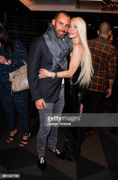 BenoitLouis Vuitton and Sylvia Mantella attends Christian Siriano Canadian Book Launch held at Bisha Hotel Residences on November 28 2017 in Toronto...