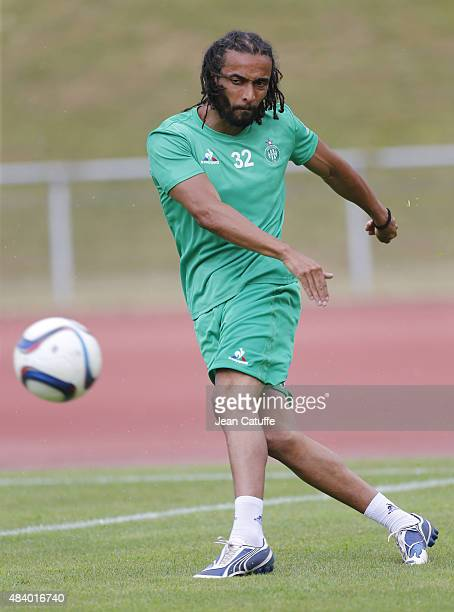Benoît AssouEkotto of SaintEtienne in action during the friendly game between AS SaintEtienne and FSV Mainz 05 at Stade Olympique on July 19 2015 in...