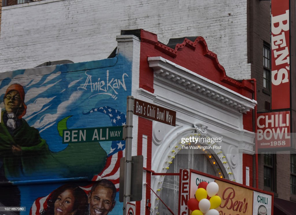 Ben's Chili Bowl celebrates its 60th anniversary on Wednesday, August 22, 2018, in Washington, DC. This U Street institution, which opened in 1958, has survived the 1968 riots and its neighborhood's rapid gentrification.